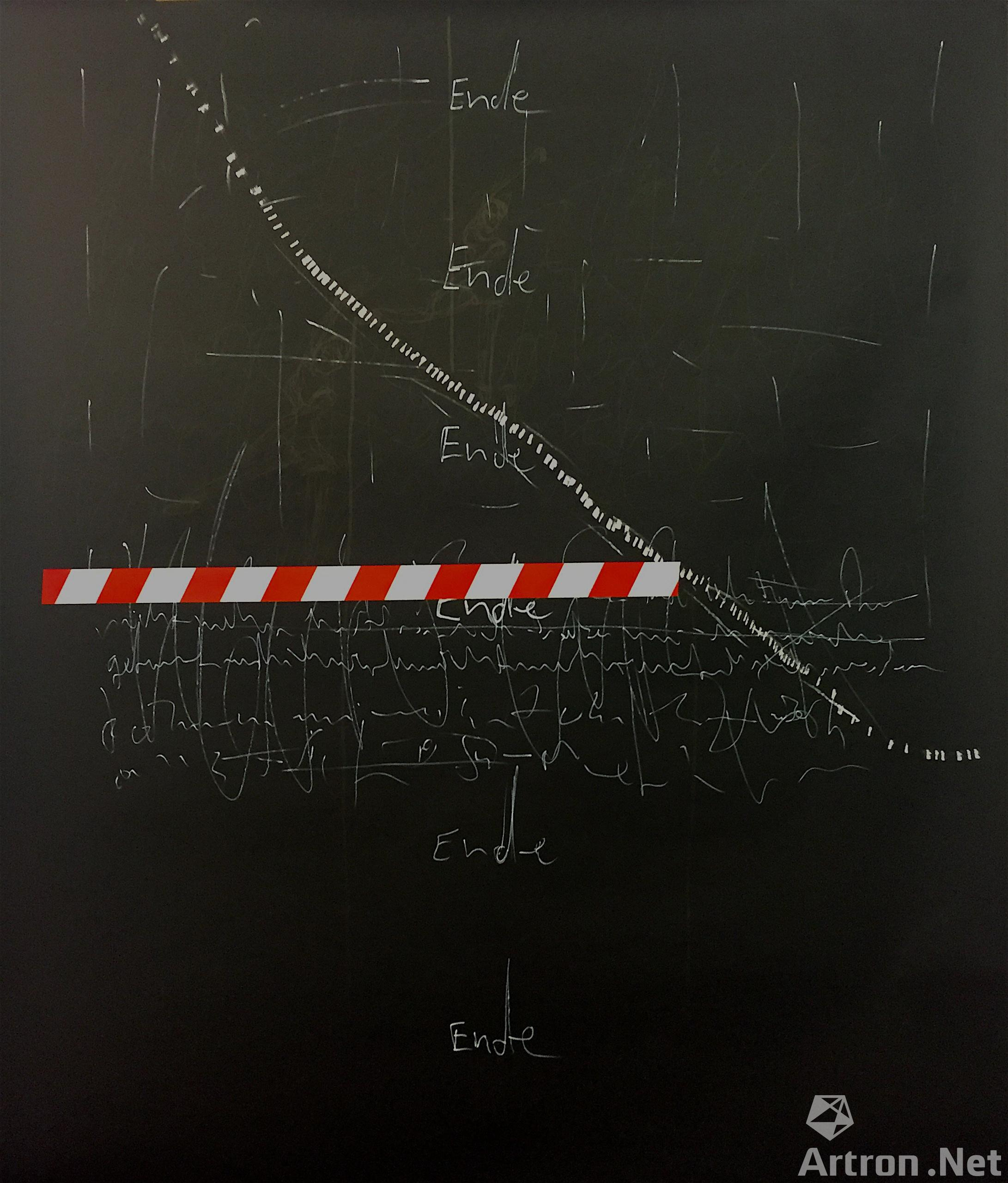 《I》  Veronika Wenger 160x150cm 2015年 Marker and tape on paper纸上马克笔和胶带